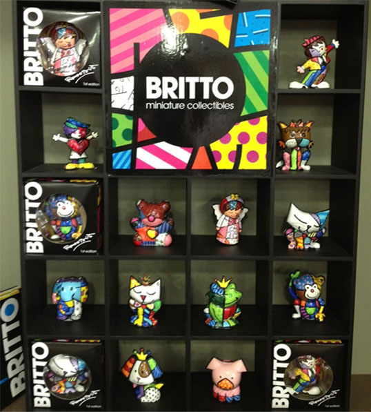 Miniature collectibles by Romero Britto