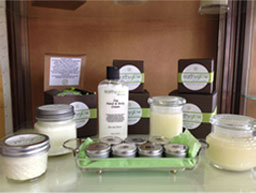 Earthy Glow soy lotion candles