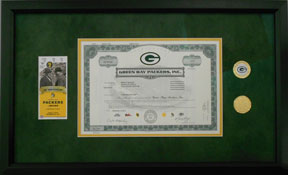 Custom Framed Packers Memorabilia