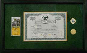 Custom Framed Packers Memorabilia