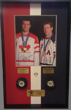 Custom Framed Olympic Hockey