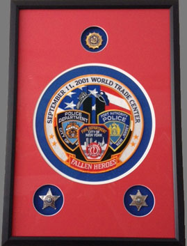 Custom Framed Sept 11 Badges